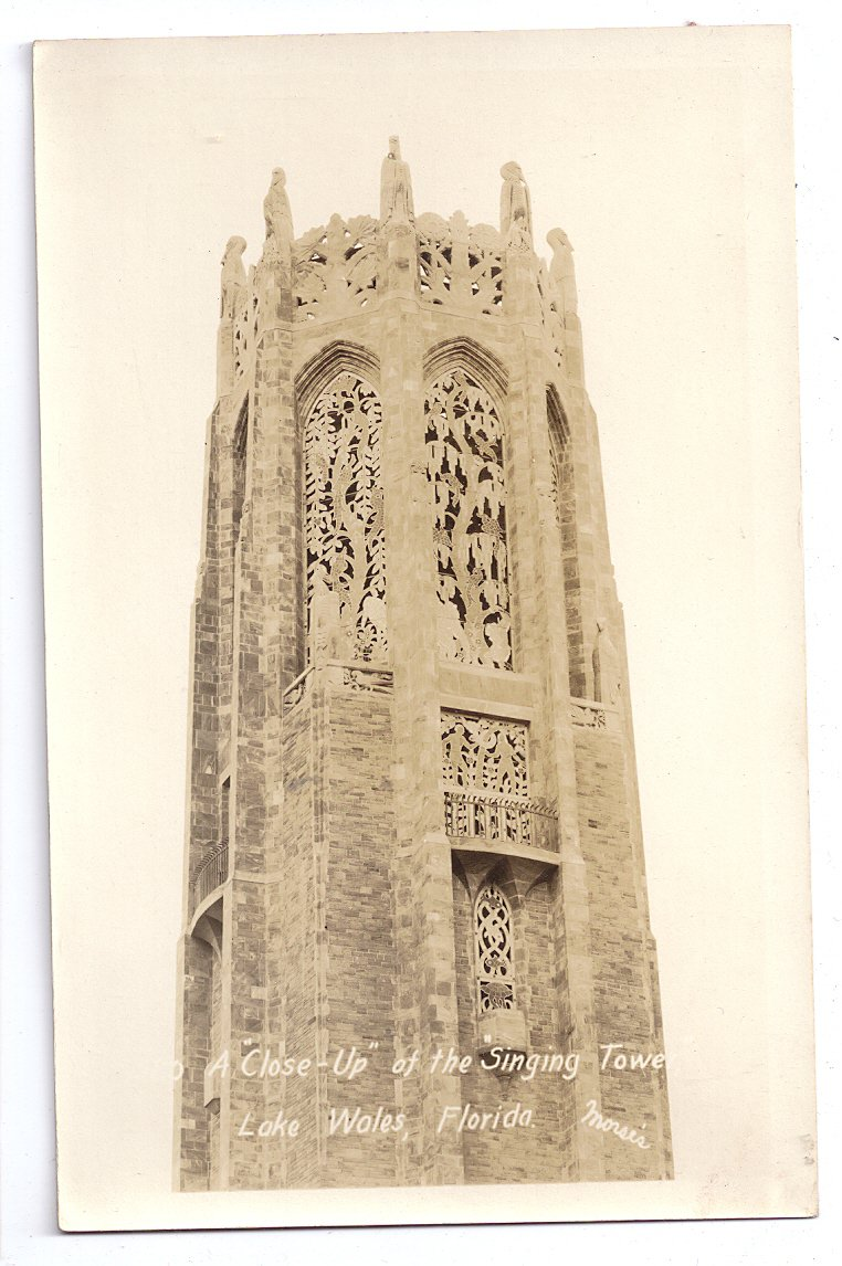 Florida RPPC Lake Wales FL Bok Singing Tower Vintage Real Photo Post Card