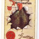 Thanksgiving Turkey Proclamation Gold Gilding Vintage 1912 Embossed Postcard