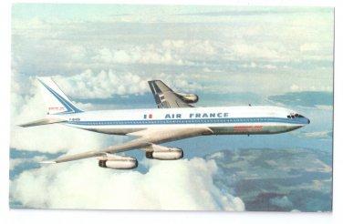Aviation Air France Boeing 707 Intercontinental Jet Airliner Vintage Postcard