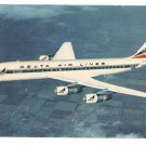 Delta Air Lines Aircraft Douglas DC-8 Fanjet Airplane Vintage Aviation Postcard