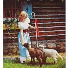 Santa North Pole Little Bo Peep Adirondacks NY Mike Roberts Vtg Postcard