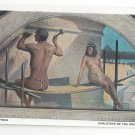 Washington DC Library of Congress Mural Hieroglyphics J W Alexander Postcard