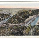 PA Mauch Chunk View from Flagstaff Bear Mountain Lehigh River Vintage Postcard