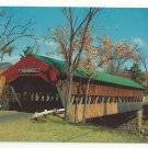 NH Jackson Covered Bridge Ellis River Vintage White Mountains Postcard Sieburg