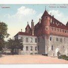 Switzerland Lausanne Terrasse du Chateau E Rossier Postcard Vntg ca 1910
