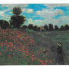 Monet Field of Poppies Impressionist Painting Vintage 4X6 Art Postcard