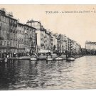 France Toulon L'ensemble du Port L. R. Quai boats Vintage Postcard