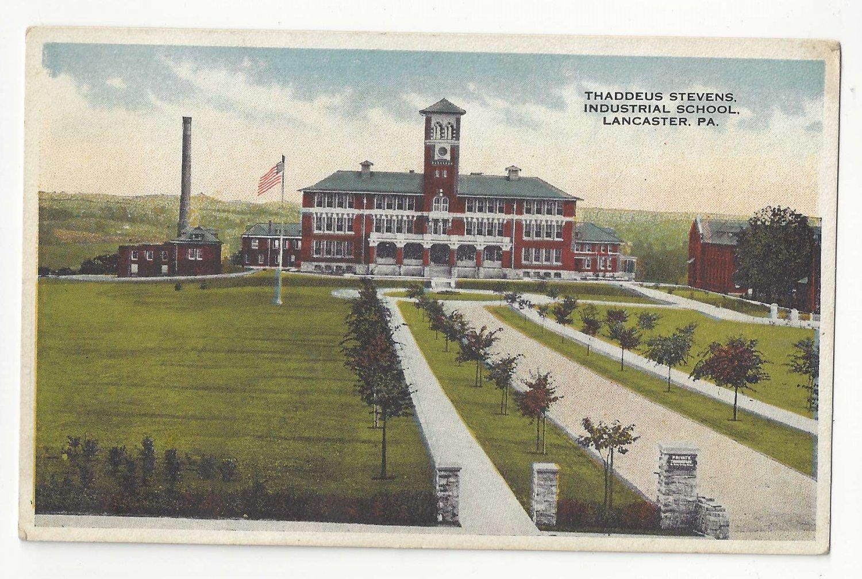 Lancaster PA Thaddeus Stevens Industrial School Vintage Postcard