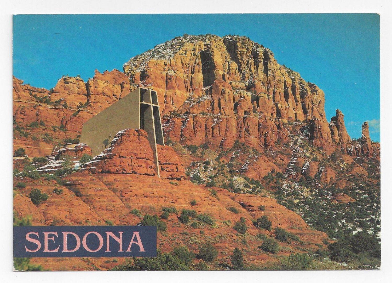 Sedona AZ Chapel of the Holy Cross Church Desert Dick Dietrich Postcard 1994 4X6