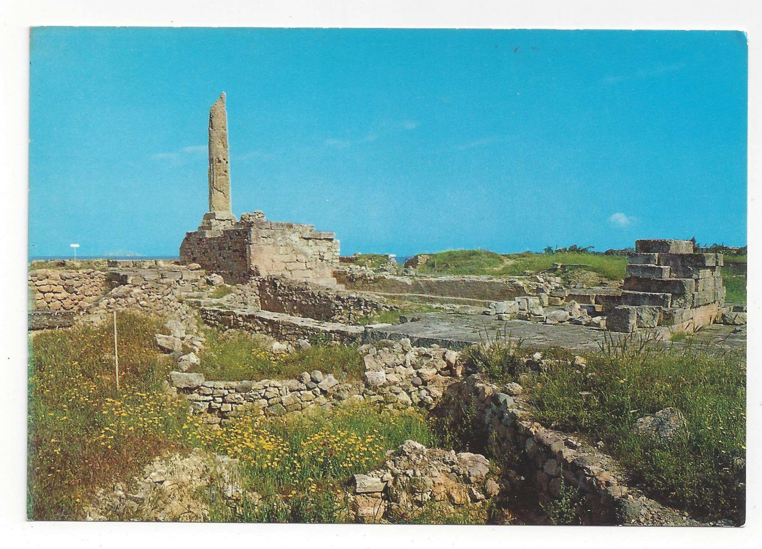 Greece Aigina Aegina Temple of Apollo Vtg Postcard 4X6