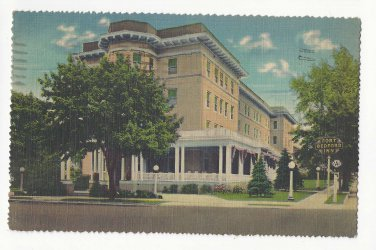 PA Fort Bedford Inn Vintage 1942 Pennsylvania Linen Advertising Postcard Deckle Edge