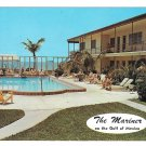 St Petersburg Motel Hotel Swimming Pool The Mariner Gulf of Mexico Vtg Florida Postcard