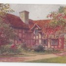 UK Stratford on Avon Shakespeares Birthplace Garden Quatremain Watercolor Postcard