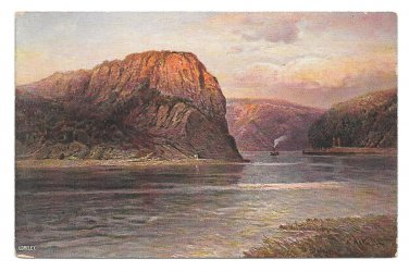 Germany Rhine River Loreley Rock Hoursch & Bechstedt Vintage Postcard