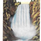 WY Yellowstone National Park Great Falls E.C. Kropp Postcard for SPRR Vintage