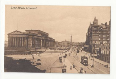 UK England Liverpool Lime Street St Georges Hall NW Railway Hotel Vintage Postcard