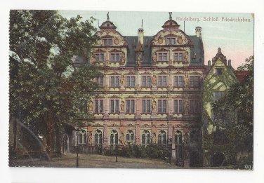 Germany Heidelberg Schloss Friedrichsbau Vtg Postcard c 1910