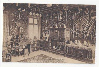 France Gonneville La Mallet Hotel Aubourg Salle D'Armes Armory Postcard Vintage