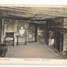 UK Stratford on Avon Shakespeare's House Birth Room Vtg Autochrom Postcard c1910