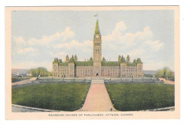 Canada Ottawa Houses of Parliament PECO Postcard Vintage