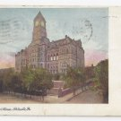 PA Pottsville Court House Vintagge Tinted Postcard 1909 Flag Cancel