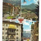 Austria Tirol Innsbruck Multiview Vtg Tyrol Postcard 4X6