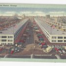Chicago South Water Market Vintage Tichnor Linen Postcard 1948