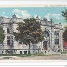 Racine Wisconsin Public Library Vintage EA Bishop WI Postcard