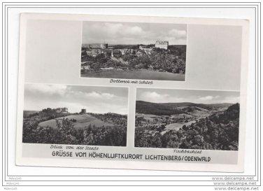 Grusse vom Hohenluftkurort Lichtenberg Odenwald Vintage Echte Foto Postcard Germany