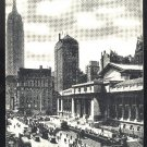 NY Manhattan Public Library and Fifth Ave.New York City 1934 Cars Vintage Postcard
