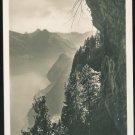 Alps Switzerland Burgenstock View from Felsenweg tunnel Vintage RP Postcard