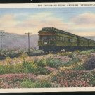 California Train Westward Bound Crossing the Desert Linen 1936 Vintage Postcard