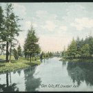 Glen Falls NY Crandall Park UND Vintage German Litho Postcard New York
