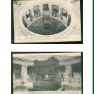 Lot of 2 France Tombeau Napoleon I Sarcophage Tomb of Napoleon I Dome Des Invalides Postcards