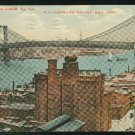 Williamsburg Bridge New York City NY Union News 1911 Postcard