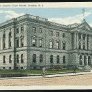 Mercer County Court House Trenton NJ Vintage Curteich Linen Postcard 4-bar Titusville Postmark