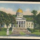 Vermont State Capitol Montpelier VT Vintage 1935 Curteich Linen Postcard