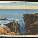 Thunder Hole Bar Harbor ME Acadia National Park Mt Desert Island Curteich Linen 1937 Postcard
