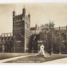 "UK England Exeter Cathedral North Side Tucks ""Real Photograph"" Vintage Postcard"