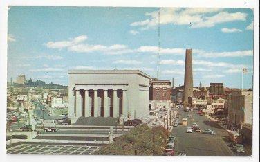 Baltimore MD War Memorial Plaza and Shot Tower Vtg D Traub Maryland Postcard