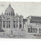 Roma Italy Rome Vatican St Peters Cathedral S Pietro Vtg Postcard