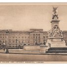 London England UK Buckingham Palace Victoria Memorial Vintage Heskett Postcard