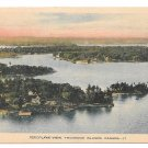 Canada Thousand Islands Ontario Aeroplane Aerial View Vintage Tinted PECO Postcard