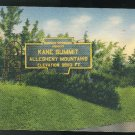 Kane PA Kane Summit Allegheny Mountains 1941 Pennsylvania Vintage linen Postcard