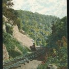 Old Port R.R. below Columbia PA Railroad  Vintage Postcard 1907 4 Bar Florin PA Postmark