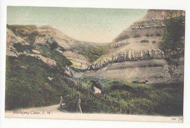 UK Isle of Wight Blackgang Chine JWS John Welch & Sons no 72 Vintage Litho Postcard Tinted
