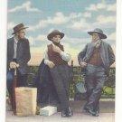 PA Lancaster Amish Men Vintage Curteich Linen Postcard