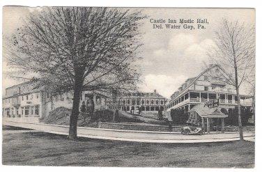 Delaware Water Gap PA 1912 Castle Inn Music Hall Hausers Postcard Doremus Cancel