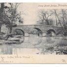 Princeton NJ Stony Brook Bridge 1905 Rotograph Vintage UDB Postcard Doremus Cancel