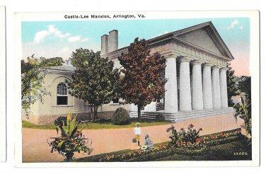 Arlington VA Curtis Lee Mansion Vtg B S Reynolds Virginia Postcard